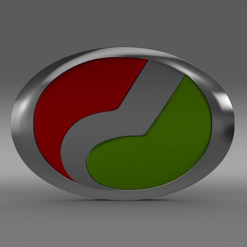 Perodua Logo 3D Model MAX OBJ 3DS FBX C4D LWO LW LWS
