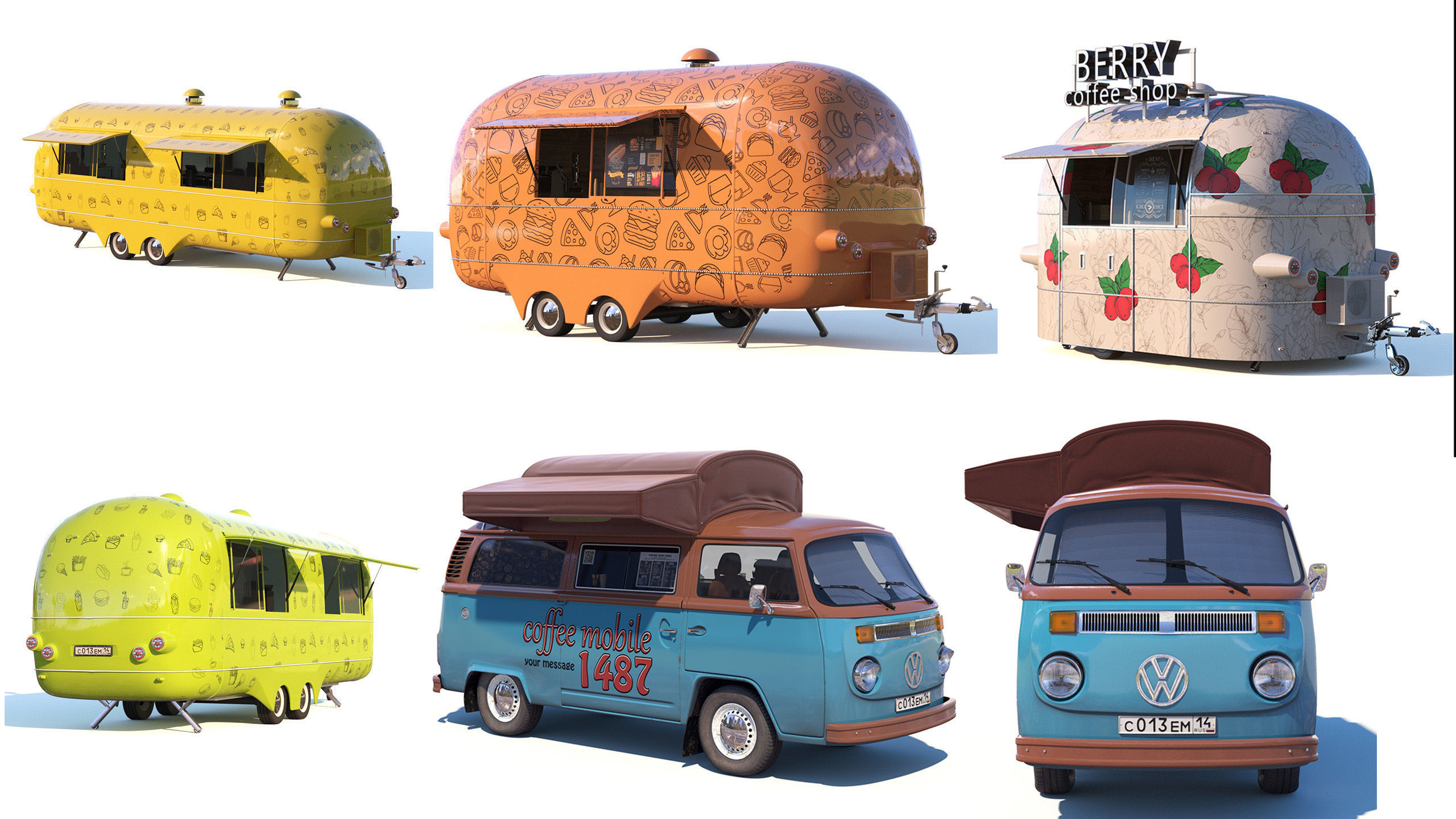 Street food and coffee  trucks