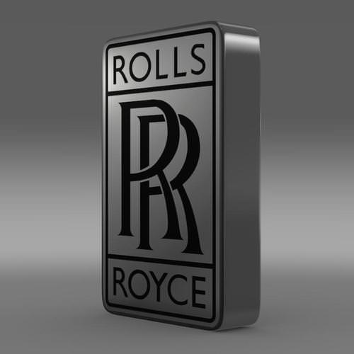 rolls royce logo 3d model max obj 3ds fbx c4d lwo. Black Bedroom Furniture Sets. Home Design Ideas