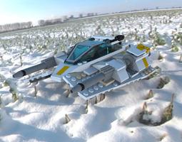 modular brick snowspeeder 3d