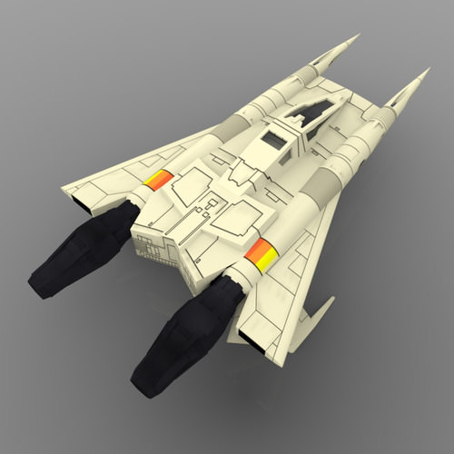 Buck Rogers Starfighter 3D Model .obj