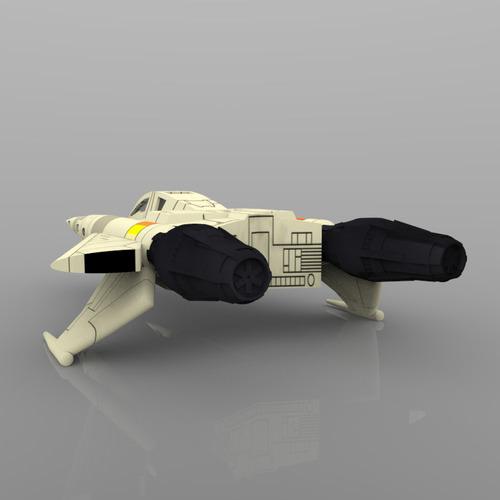 buck rogers starfighter 3d model obj 7