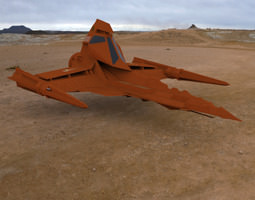 3D model Buck Rogers Draconian Marauder