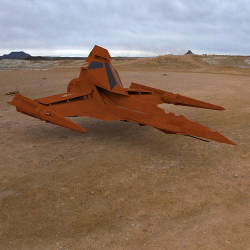 buck rogers draconian marauder 3d model obj mtl 1