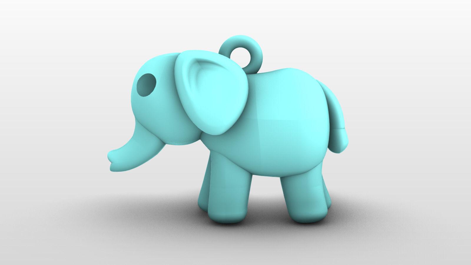 Charm Pendant - Adorable Little Animal - Elephant