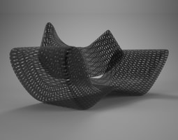 3d model grid vray material