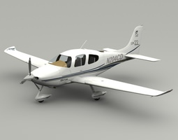 Cirrus SR22 Airplane 3D Model