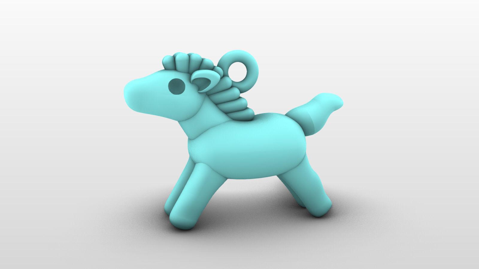 Charm Pendant - Adorable Little Animal - Horse