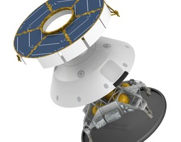 mars curiosity msl spacecraft and skycrane 3d