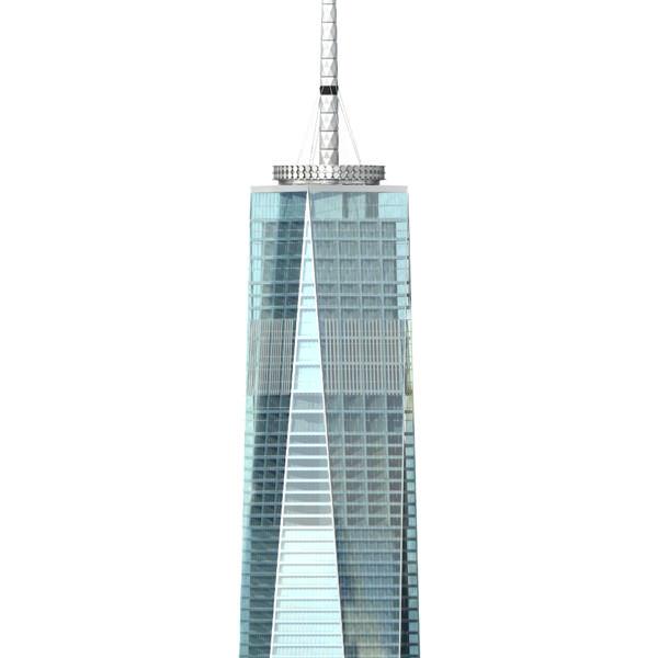1 World Trade Center 3D Model .3ds .lwo .lw .lws