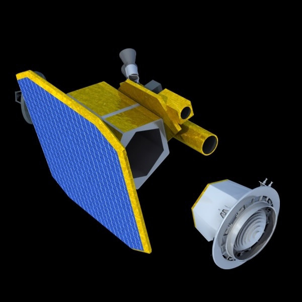 Deep Impact Spacecraft 3D Model .obj - CGTrader.com