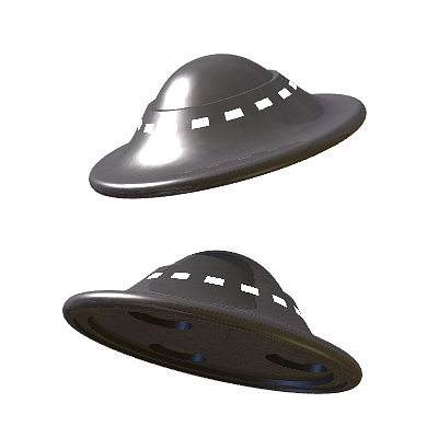 30 realistic flying saucers 3d model 3ds lwo lw lws 11
