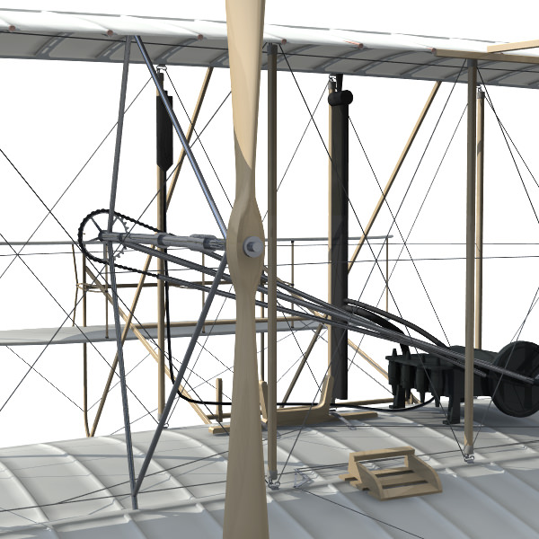 1903 Wright Flyer 3d Model 3ds Lwo Lw Lws Cgtrader Com