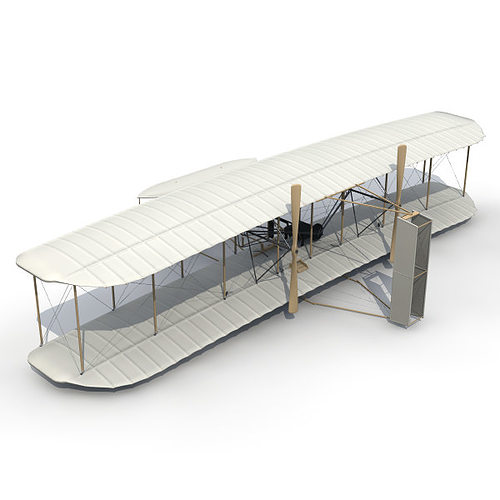 accurate 1903 wright flyer 3d model 3ds lwo lw lws 1