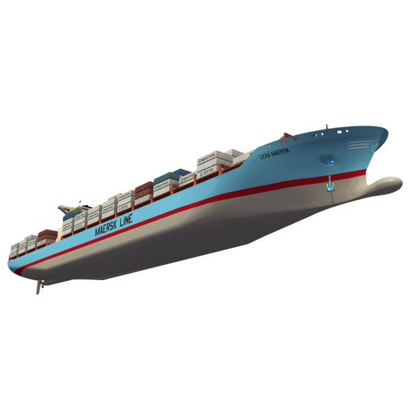Lexa Maersk Container Ship 3D Model 3DS LWO LW LWS | CGTrader.com