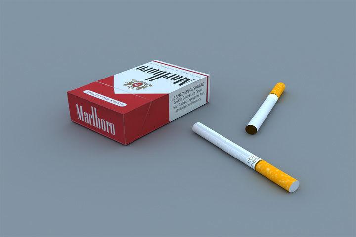 Marlboro Box and Cigarettes