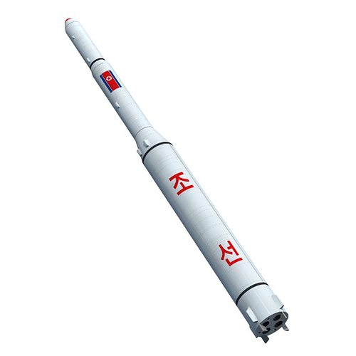 north korean unha-2 rocket 3d model obj mtl 3ds lwo lw lws blend 1