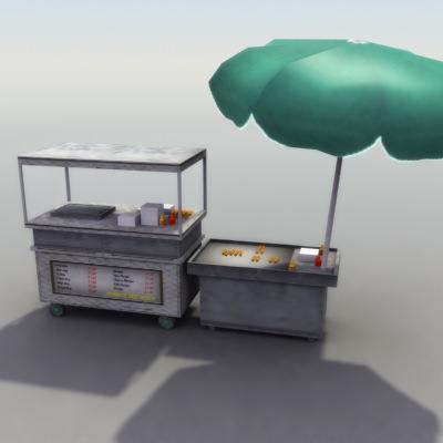 Street Hotdog Stand