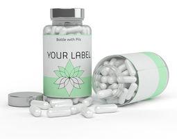 3D model Medicine bottle and pills