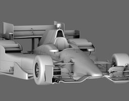 indy car honda 2015 low-poly 3d model