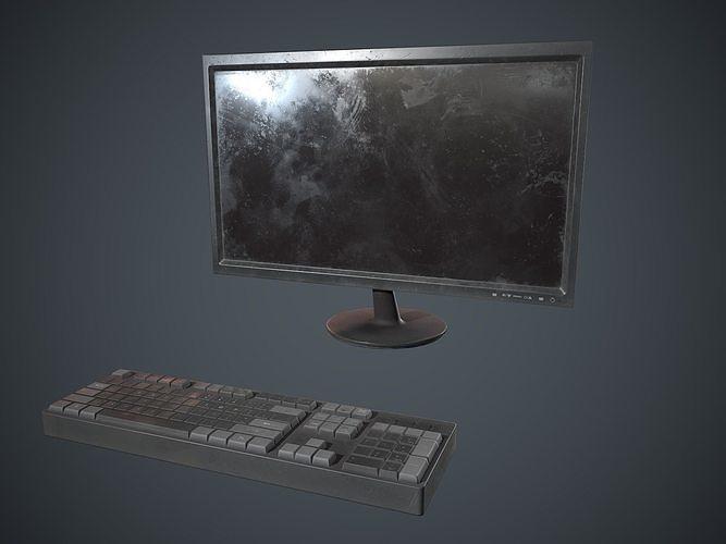 Hd Monitor and keyboard