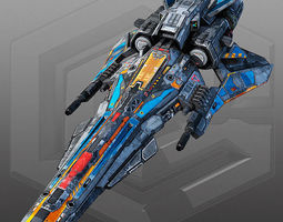 Sci Fi Light Fighter X6 3D Model