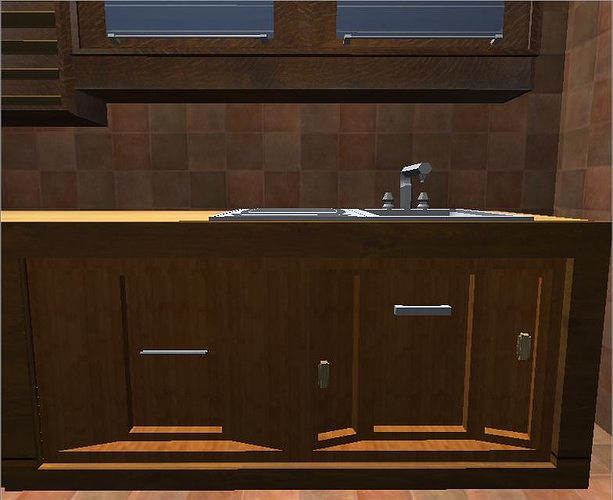kitchen elements 3d model low-poly dae 1