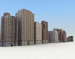 3D asset Low Poly Game Buildings Set01