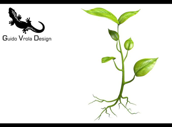 Small plant design3D model
