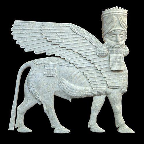D assyrian bas relief sculpture centaur cgtrader