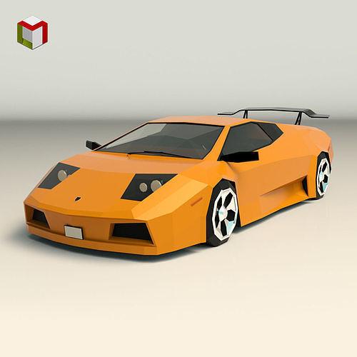 Low Poly Sports Car 02