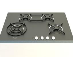 Gas cooker 4 3D