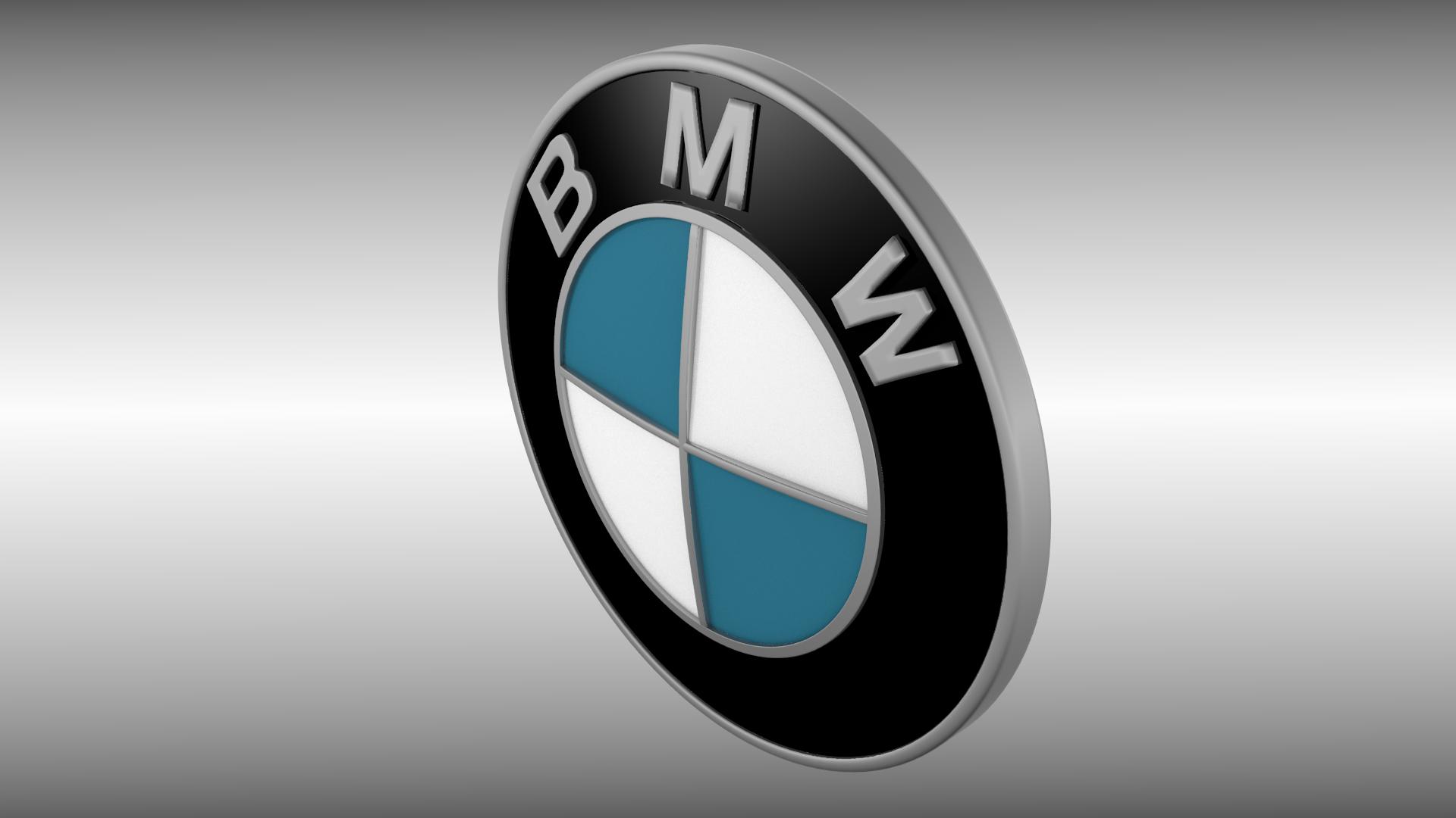BMW logo 3D Model .obj .blend - CGTrader.com
