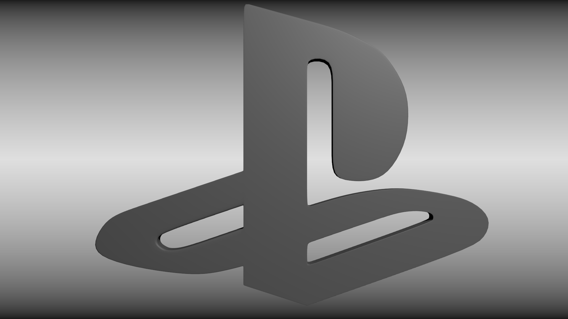 Playstation logo free 3d model obj 3ds fbx blend dae - High resolution playstation logo ...