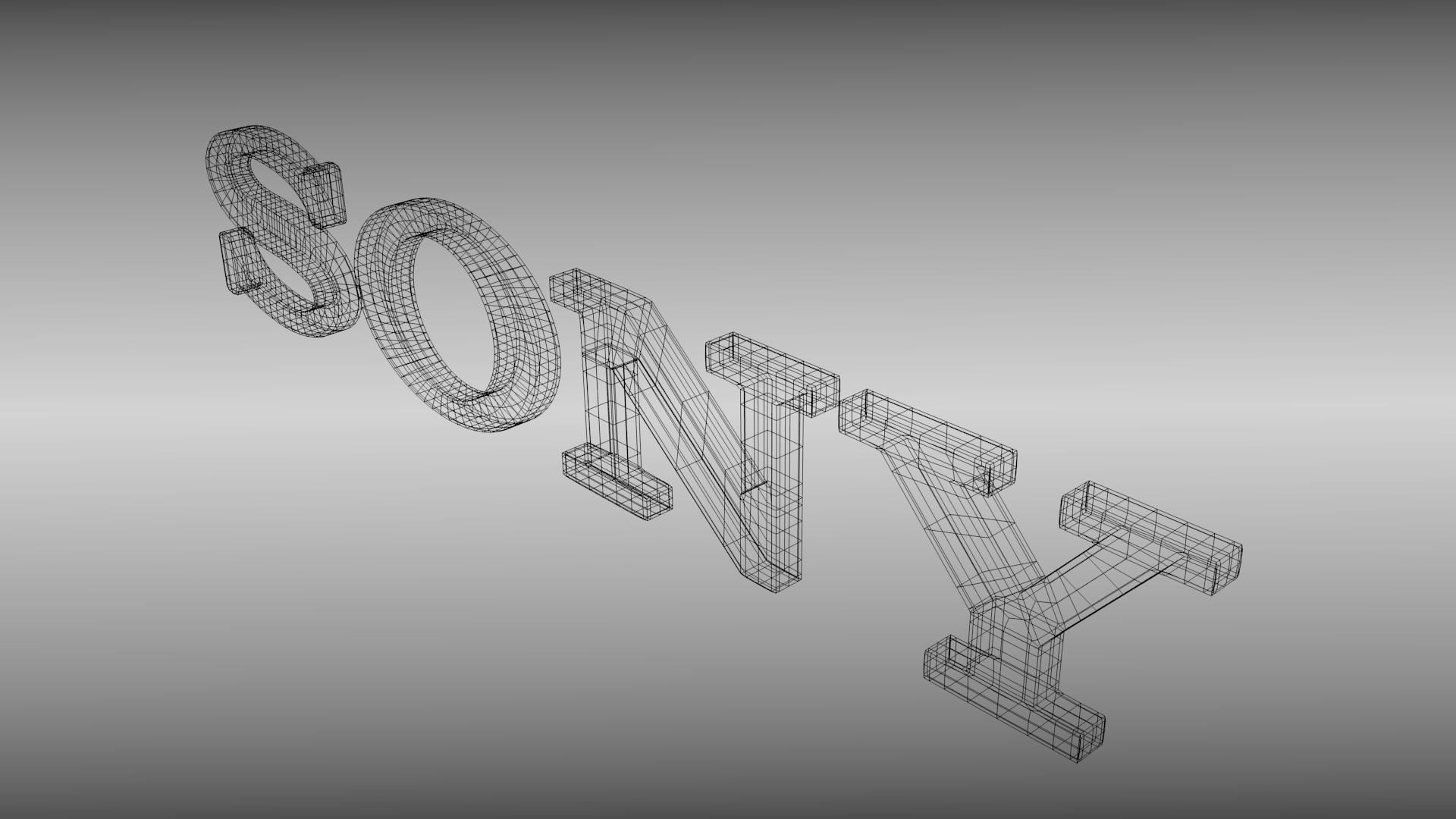 sony logo. sony logo 3d model obj 3ds fbx blend dae mtl 5