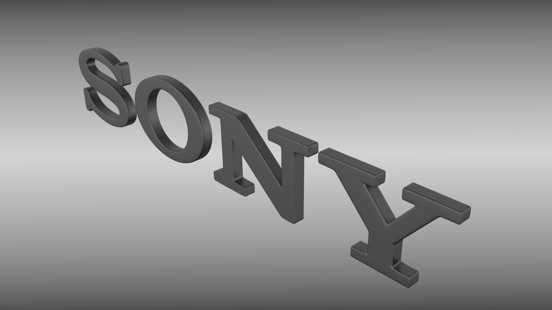 Sony logo free 3d model obj 3ds fbx blend dae - Sony bravia logo hd ...