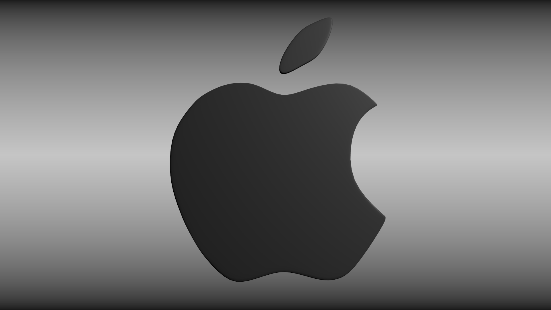 apple logo white on black. apple logo 3d model obj 3ds fbx blend dae mtl 4 white on black
