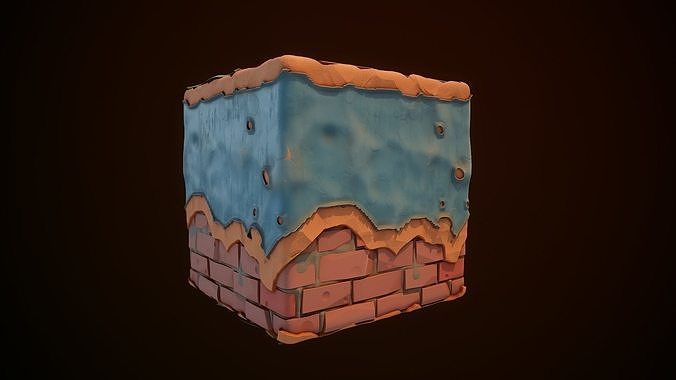 Substance Designer  Wall Painted Stylized end Video Full