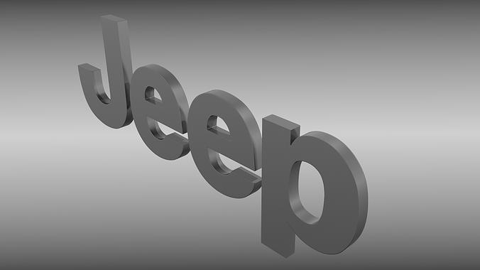 3d Model Jeep Logo Cgtrader