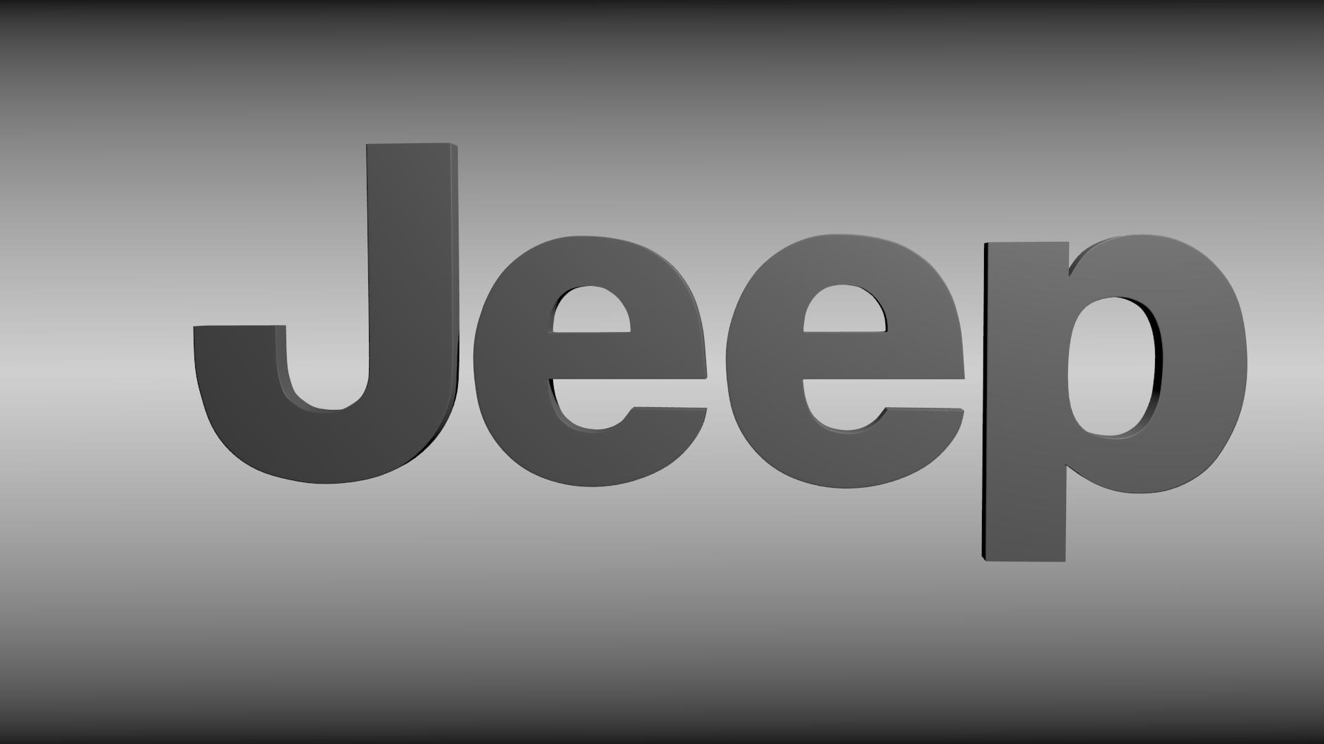 Used Jeep Wrangler Parts >> Jeep logo 3D Model OBJ BLEND | CGTrader.com