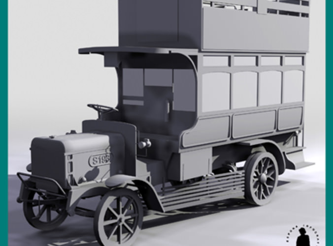 1910 Type Bus Omnibus 3d Model Max Cgtrader Com