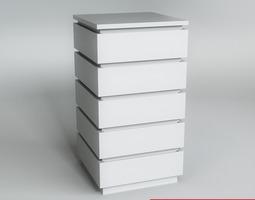 White Commode 3D Model