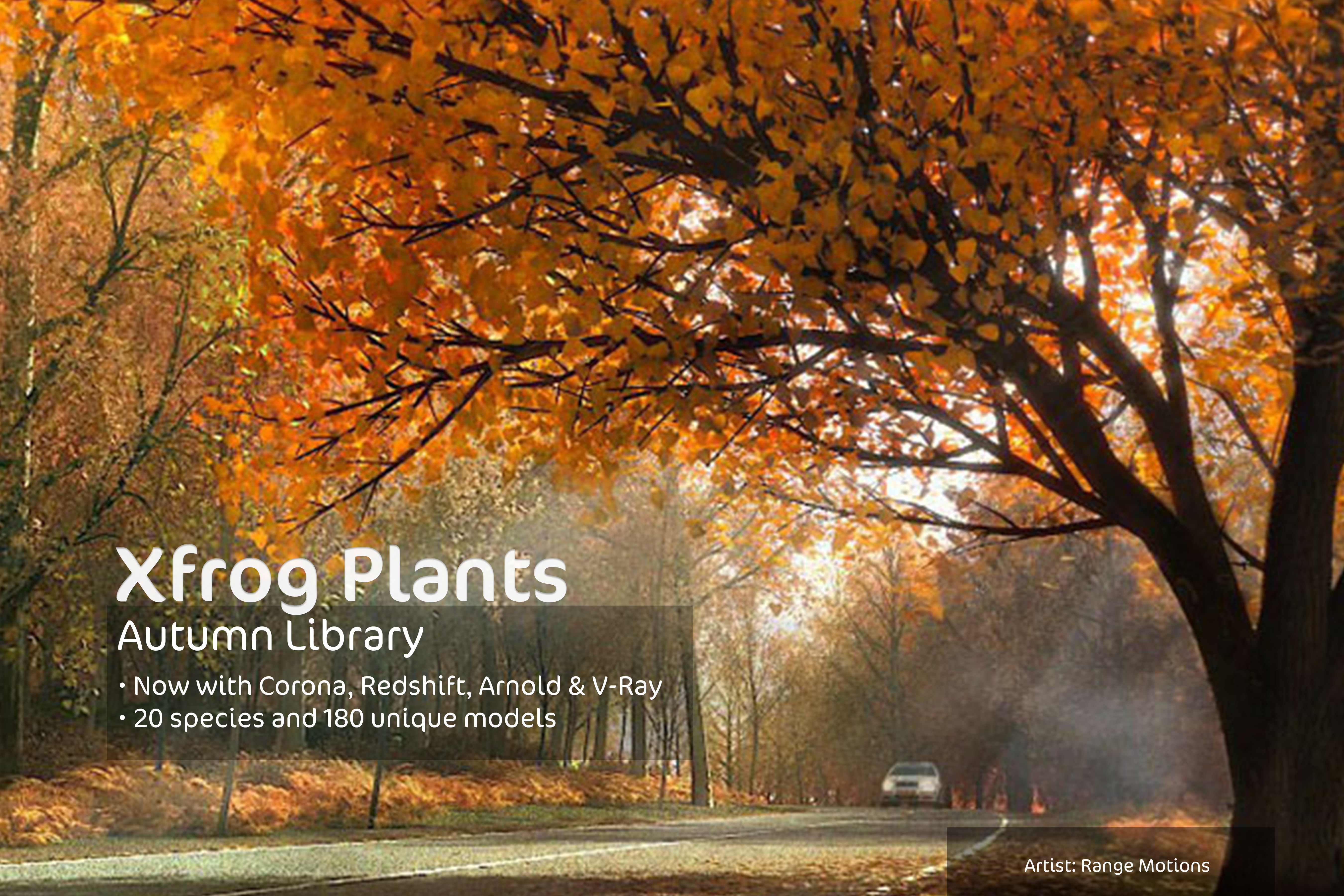 2020 XfrogPlants Autumn Trees Library