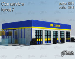 Car service level 3D asset architecture