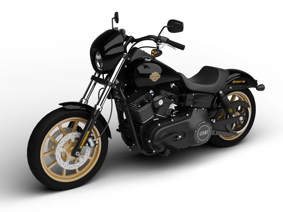 The Snake Harley Davidson Dyna: Harley-Davidson FXDL Dyna Low Rider S 2016 3D Model MAX