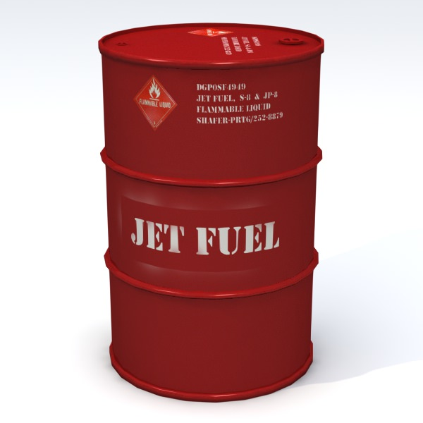 Jet Fuel 55 Gallon Drum 3d Model Obj 3ds Fbx Lwo Lw