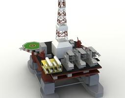 offshore oil platform 3d