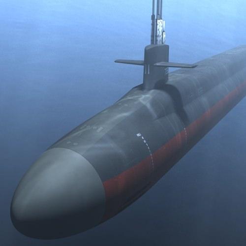 ohio class submarine 3d model obj 3ds lwo lw lws mtl 1