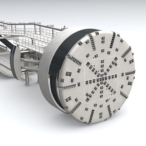 tunnel boring machine tbm 3d model 3ds lwo lw lws 1