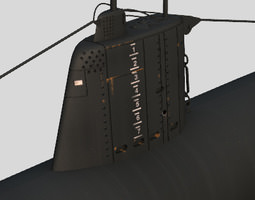 Type A Japanese Submarine 3D Model